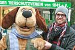 Tierheim-Maskottchen und Sprecher Sven Fraaß