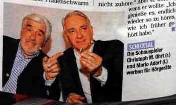 Foto von Mario Adorf und Christoph M. Ohrt