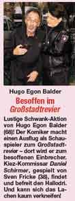 Foto von Hugo Egon Balder und Sven Fricke