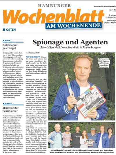 Bericht über Dreharbeiten in Hamburg