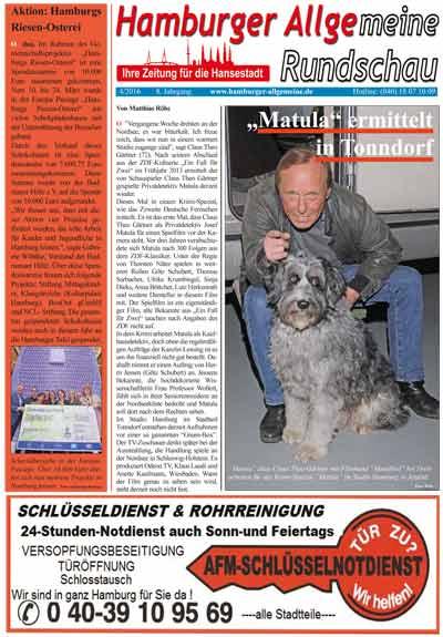 Claus-Theo Gärtner dreht in Hamburg