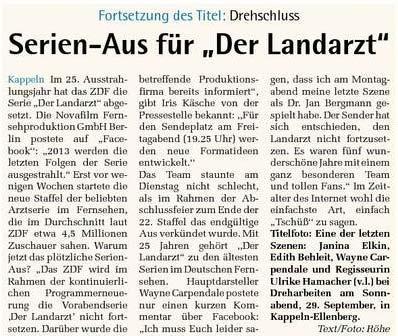 ZDF-Serie Der Landarzt