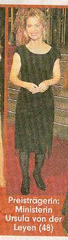 Ursula von der Leyen auf dem Roten Teppich in Berlin, erschienen in der Bild Zeitung (Bundesausgabe)